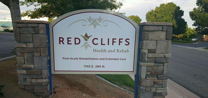 red cliffs signage