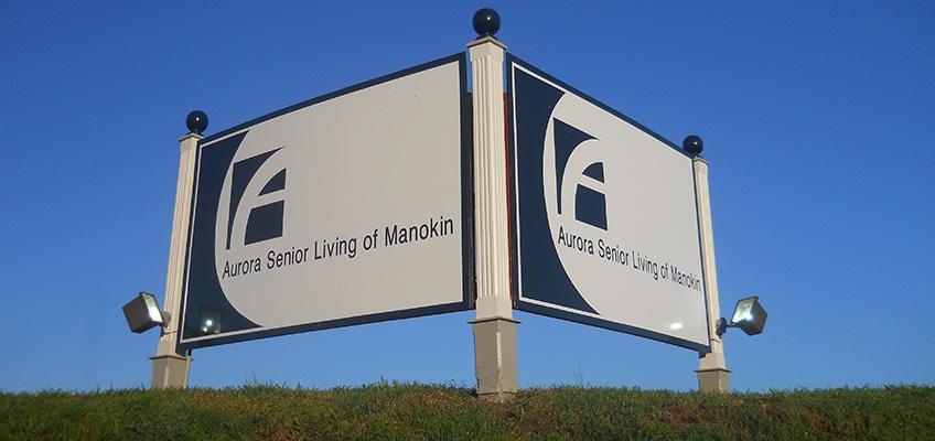 Aurora Senior Living of Manokin sign