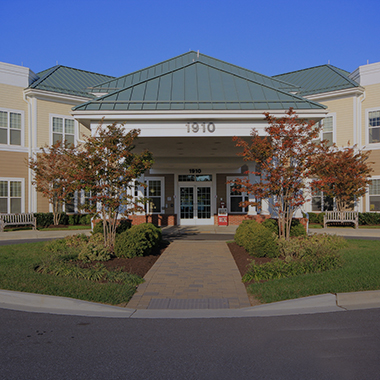 front entrance of Montevue Assisted Living