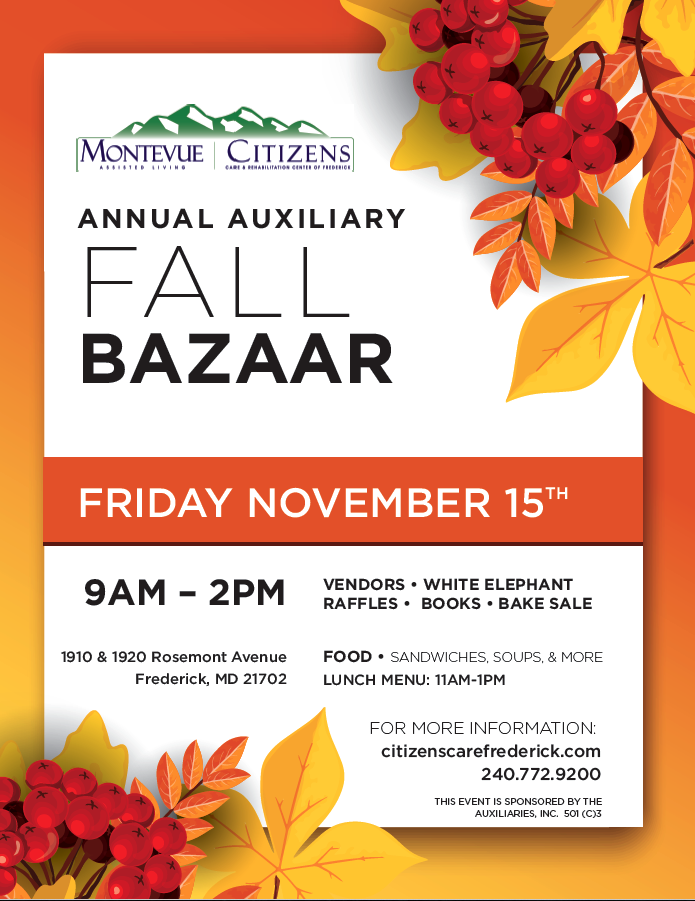 Fall Bazaar flyer