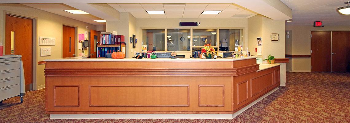 Nurses station nicely organized