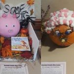 Hand crafted pumpkin pig and mouse
