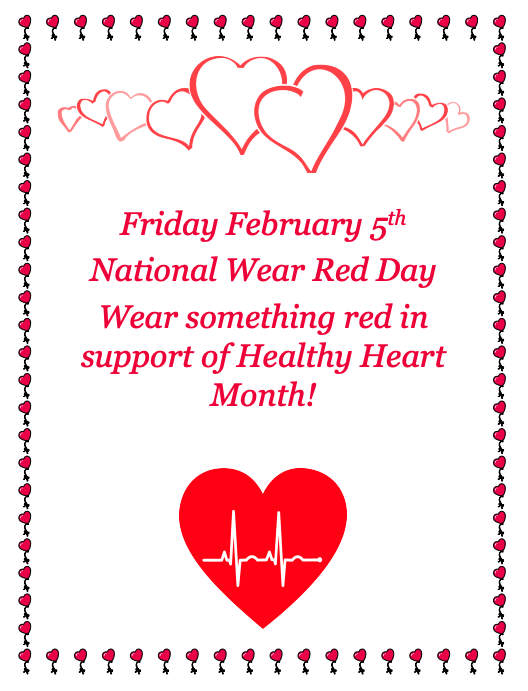 National Wear Red Day February 5, 2021