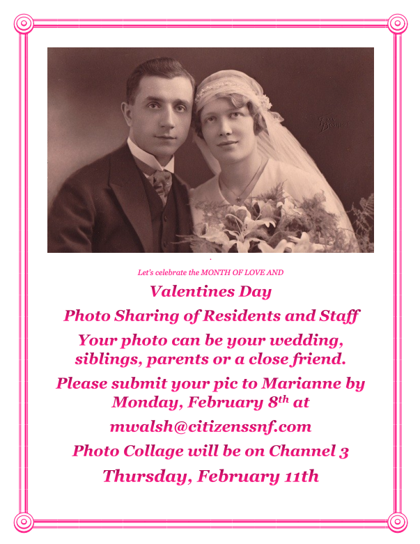 Valentine's Day Photo Sharing On Channel 3. Thursday February 11, 2021
