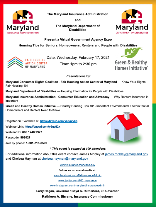 Maryland Department Of Disabilities Hosting An Expo Featuring Housing Tips