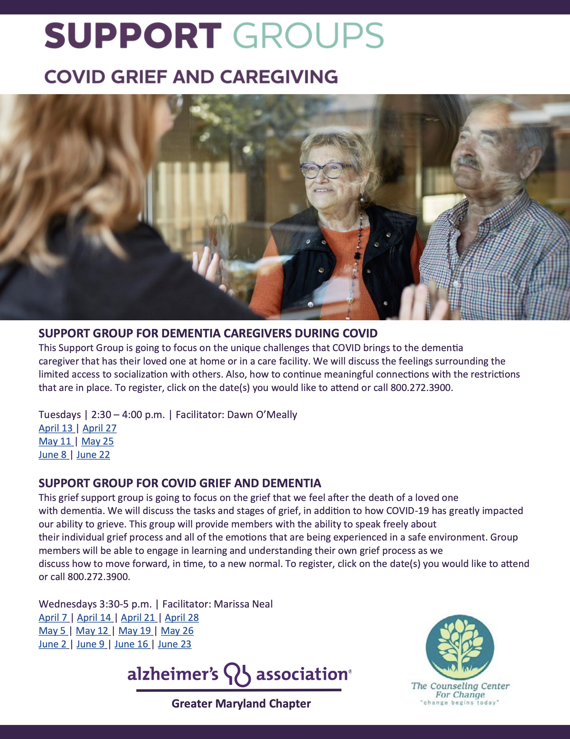 Support Groups COVID Grief And Caregiving