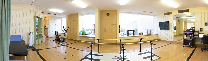 wide lens rehabilitation room photo