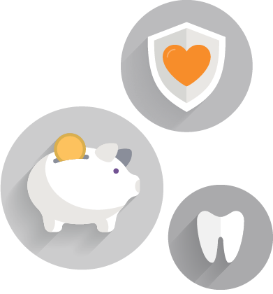 icons displaying benefits offered