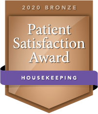 2020 Bronze Patient Satisfaction Award for Housekeeping