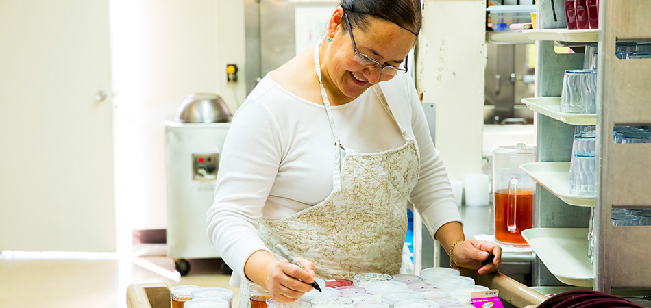 woman working in a craft room