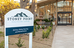 Stoney Point entrance with sign