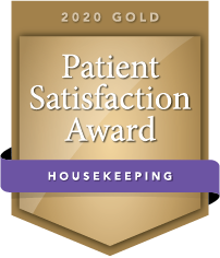 2020 Gold Patient Satisfaction Award for Housekeeping