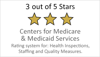 3-star Medicare and Medicaid Services rating button