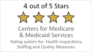 4 out of 5-stars medicare and medicaid rating button