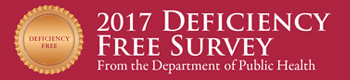 2017 Deficiency free survey press release button