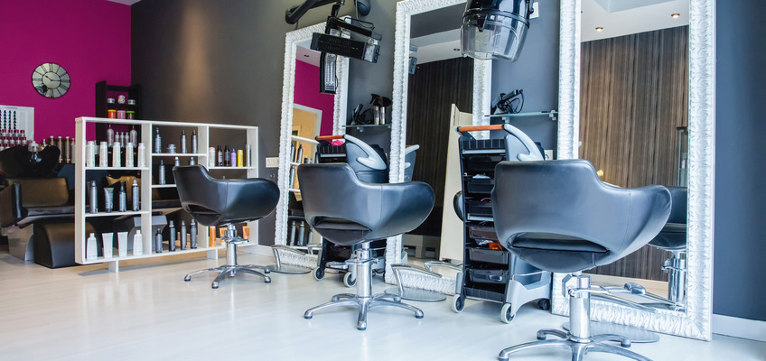 beauty salon with three chairs