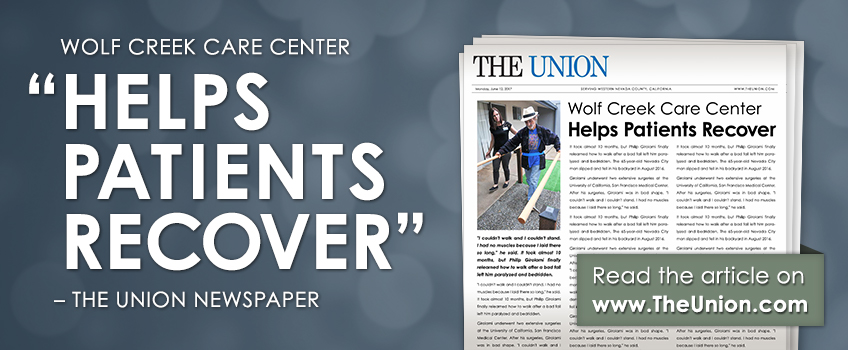 wolf creek care center helps patients recover union banner