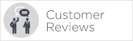 customer review button white