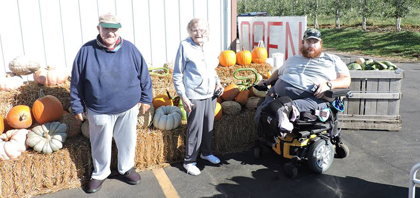 Residents pumpkin gathering
