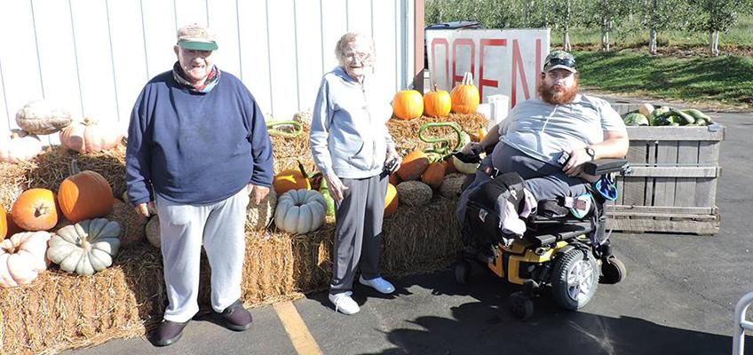 Residents pumpkin gathering