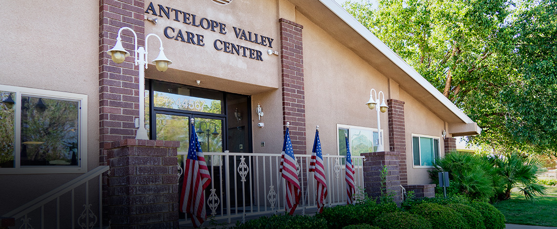 Antelope Valley Care Center front entrance