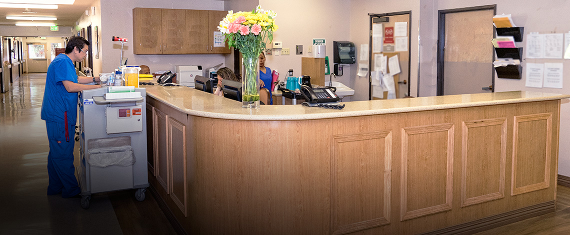 nurses station at Antelope Valley