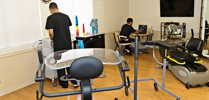 exercise & rehabilitation room