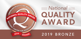 National Quality Award 2019 Bronze button
