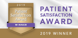 Patient Satisfaction Award 2019 Winner button