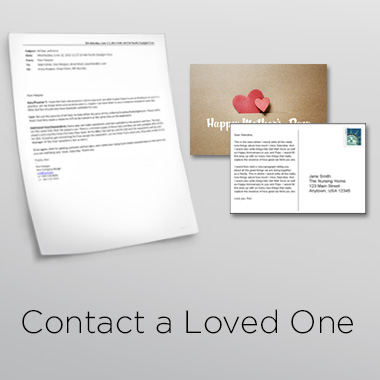 Contact a loved one button