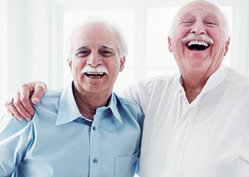 2 friends sharing a laugh