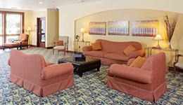 comfortable couches in the lobby