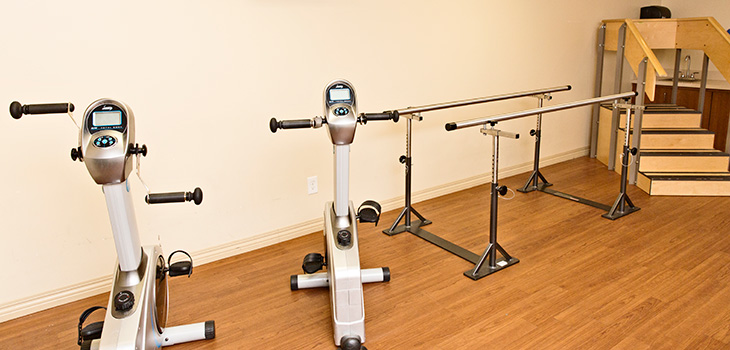 Exercise and therapy room