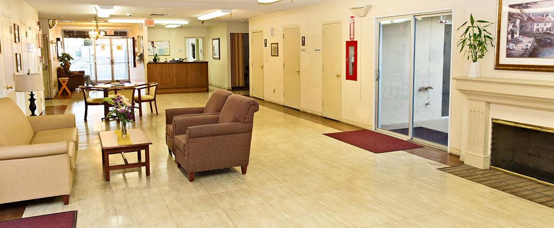 San Jacinto spacious front lobby