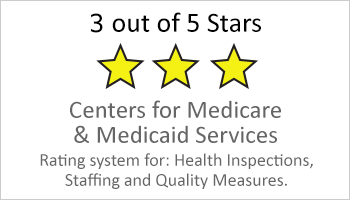3 out of 5 stars by Medicare button