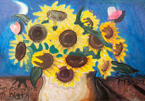van gogh's sunflowers painting