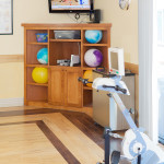 therapy balls and exercise bike