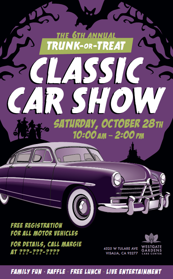 Westgate Classic Car Show October 28th at 10 am
