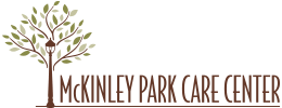 McKinley Park Care Center logo with tree next to the name