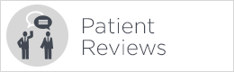 patient reviews button white