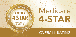 Medicare 4-star overall rating badge