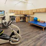 exercise bikes in rehabilitation room
