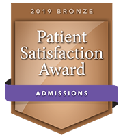 2019 Bronze Patient Satisfaction Award for Admissions