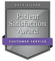 2019 Silver Patient Satisfaction Award for Customer Service