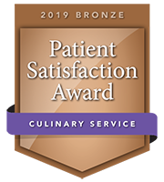 Patient Satisfaction 2019 Bronze award for Culinary Service