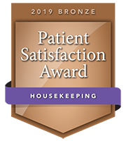 2019 Bronze Patient Satisfaction Award for Housekeeping award