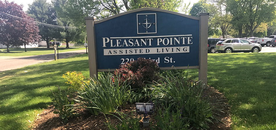 pleasant pointe assisted living sign