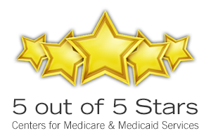 5 star banner from Centers for Medicare and Medicaid