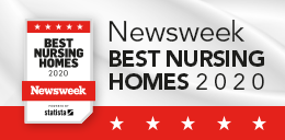Newsweek best nursing home award badge
