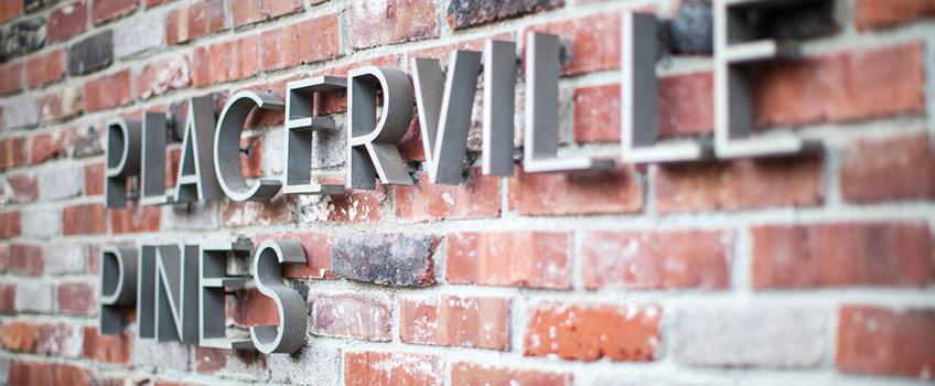 Placerville Pines building sign